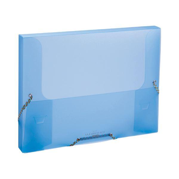 生活 雑貨 通販 (まとめ) ビュートン ドキュメントボックス A4 背幅33mm ブルー NDB-A4-CB 1冊 【×30セット】