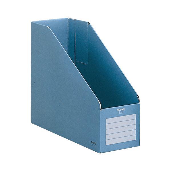 収納用品 マガジンボックス・ファイルボックス 関連 (まとめ)ファイルボックスE&SA4フリー型 背幅102mm 青 フ-E455B 1冊 【×30セット】