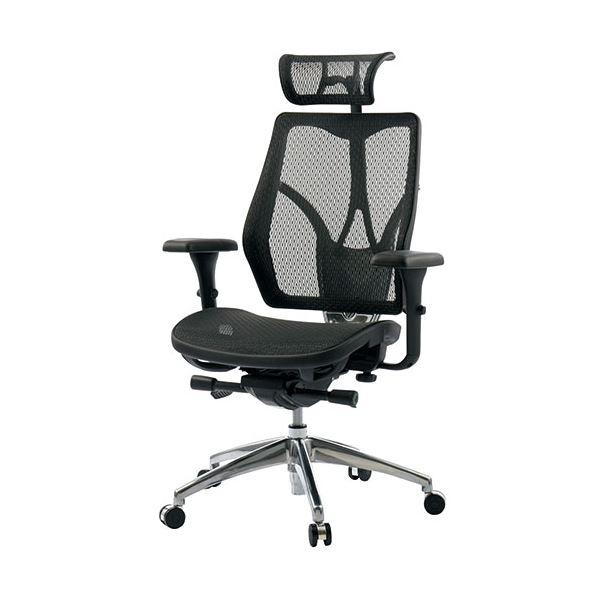 オフィス家具 オフィスチェア 高機能チェア 関連 事務イス ブラック FN-N7MA メッシュ ヘッドレスト付