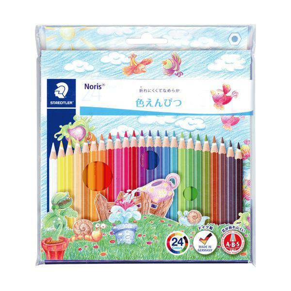 文房具・事務用品 筆記具 関連 (まとめ買い) ノリスクラブ 色鉛筆24色(各色1本) 144 NC24P 1セット 【×5セット】
