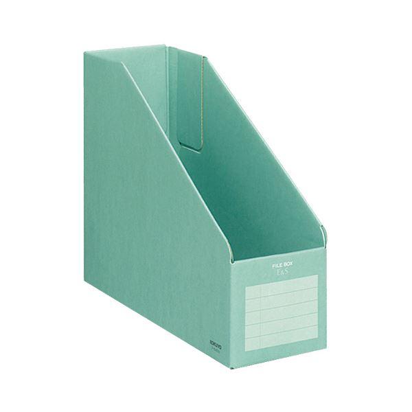 収納用品 マガジンボックス・ファイルボックス 関連 (まとめ)ファイルボックスE&SA4フリー型 背幅102mm 緑 フ-E455G 1冊 【×30セット】