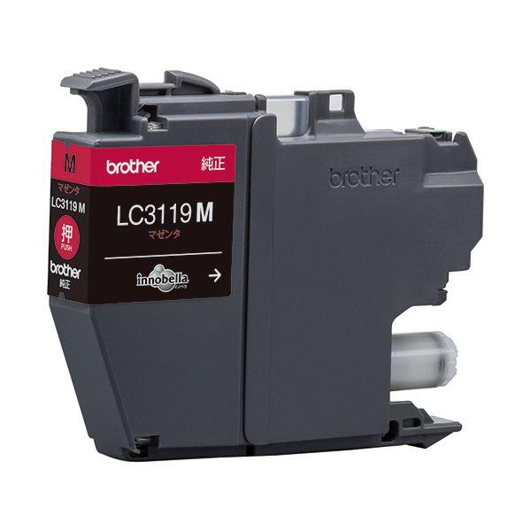 パソコン・周辺機器 PCサプライ・消耗品 インクカートリッジ 関連 (まとめ)インクカートリッジ マゼンタ大容量 LC3119M 1個 【×3セット】