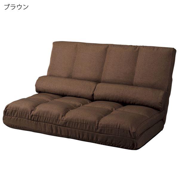 インテリア・寝具・収納 ソファ・ソファベッド ソファ 関連 3WAYハイバックリクライニングソファ 幅130cm ブラウン