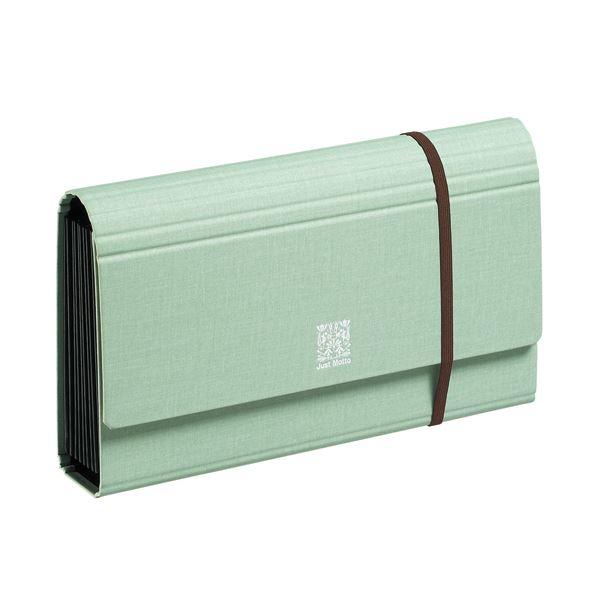 収納用品 マガジンボックス・ファイルボックス 関連 (まとめ)家庭の書類まるごとファイル W260×D50×H150 5ポケット ミントグリーン JK-55 1冊 【×5セット】