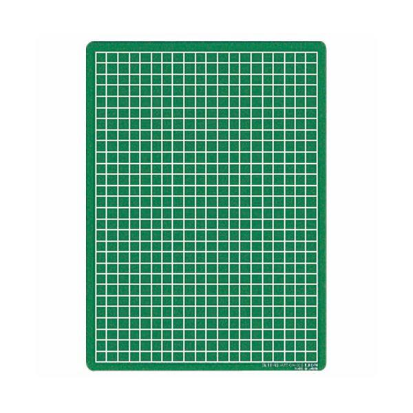文房具・事務用品 はさみ・裁断用品 カッターナイフ 関連 (まとめ) カッティングマット再生オレフィン製 両面使用 300×220×3mm グリーン CM-30S 1枚 【×5セット】