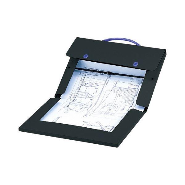 文房具・事務用品 製図用品 図面ケース 関連 (まとめ買い)デザインケースA2・A3 2つ折 DS-273W 1個【×2セット】