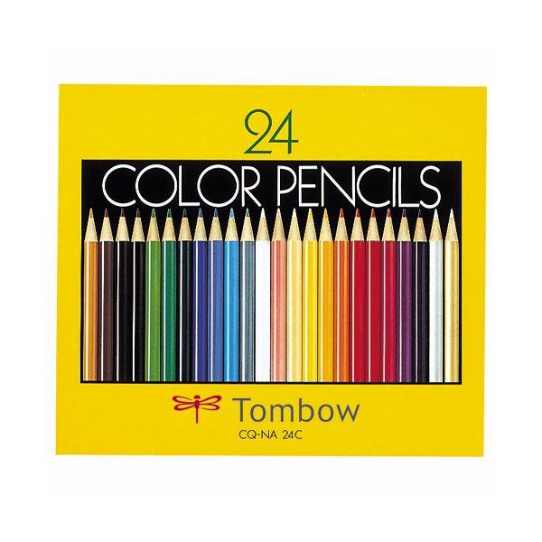 文房具・事務用品 筆記具 関連 (まとめ買い) 色鉛筆 紙箱24色(各色1本) CQ-NA24C 1箱 【×5セット】