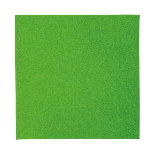 生活 雑貨 通販 (まとめ)工作フェルト 単色(5枚) 黄緑 300mm×300mm【×5セット】