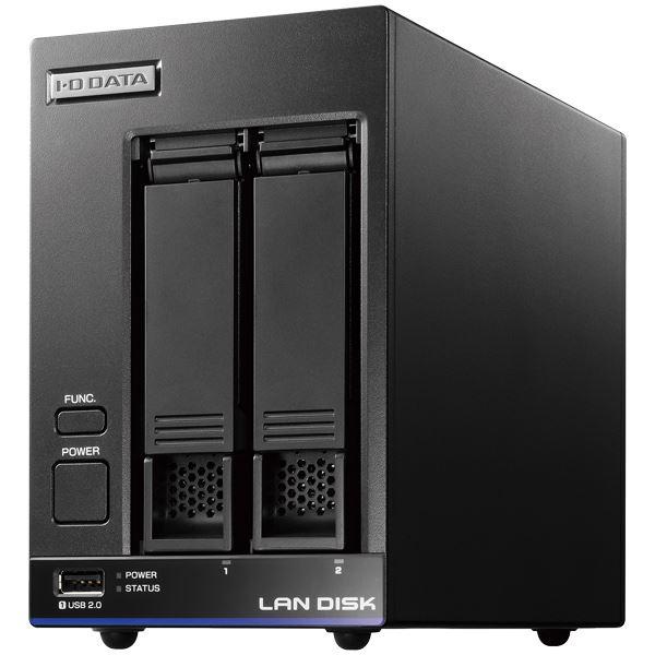 パソコン・周辺機器 関連 高性能CPU&NAS用HDD「WD Red」搭載 長期3年保証 中規模オフィス向け2ドライブビジネスNAS「LAN DISK X」 2TB 便利な引っ越し機能付 HDL2-X2