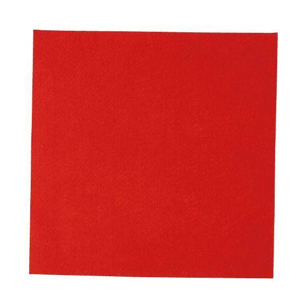 生活 雑貨 通販 (まとめ)工作フェルト 単色(5枚) 赤 300mm×300mm【×5セット】