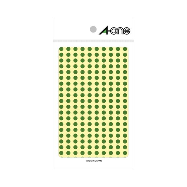 スマートフォン・携帯電話用アクセサリー スキンシール 関連 (まとめ) カラーラベル 丸型 直径5mm緑 07063 1パック(1800片:200片×9シート) 【×30セット】