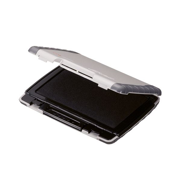 文具・オフィス用品関連 (まとめ) 多用途スタンプ台 Gタイト大形 黒 ST-301G 1個 【×3セット】
