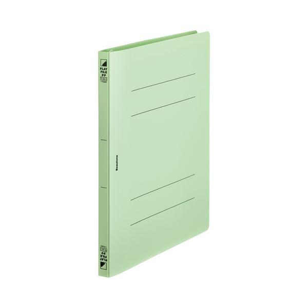 文具・オフィス用品 ファイル・バインダー 関連 (まとめ)フラットF PP ポケットA4S FF-A4SP-GN 10冊【×30セット】