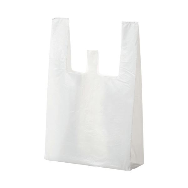 ビニール袋関連 (まとめ) ランチバッグ エコタイプ大 乳白 RBF20 1パック(100枚) 【×30セット】