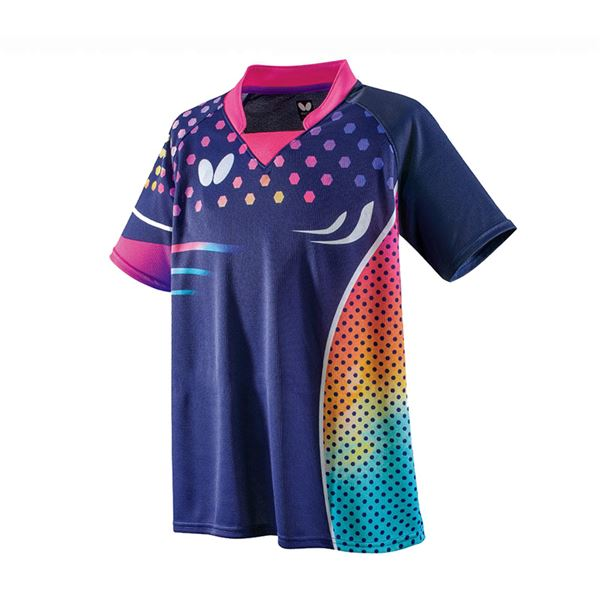 スポーツ用品・スポーツウェア 卓球用品 関連 卓球アパレル PATNARL SHIRT(パトナール・シャツ) 男女兼用 45460 ロゼ XO