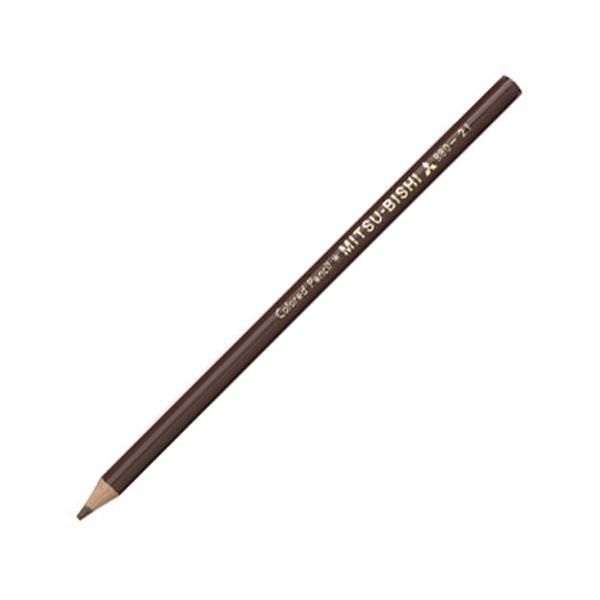文房具・事務用品 筆記具 関連 (まとめ買い) 色鉛筆880級 ちゃいろK880.21 1ダース 【×10セット】