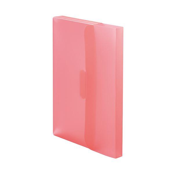 収納用品 マガジンボックス・ファイルボックス 関連 (まとめ)PP製ケースファイルA4 背幅23mm ピンク 1パック(3冊) 【×20セット】
