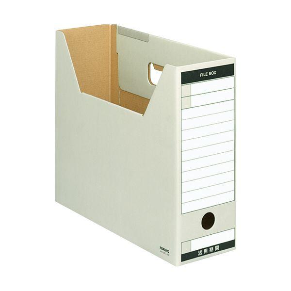 収納用品 マガジンボックス・ファイルボックス 関連 (まとめ)ファイルボックス-FS(Tタイプ) A4ヨコ 背幅102mm グレー A4-LFT-M 1冊 【×20セット】