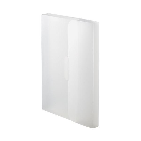 収納用品 マガジンボックス・ファイルボックス 関連 (まとめ)PP製ケースファイルA4 背幅23mm ホワイト 1パック(3冊) 【×20セット】