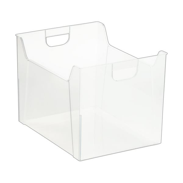 【薬用入浴剤 招福の湯 付き】シンプルなクリアタイプのボックスファイル。 日用雑貨 (まとめ) ナカバヤシ ファイルボックス A4クリア FB-E05-CR 1個 【×30セット】