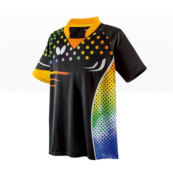 スポーツ用品・スポーツウェア 卓球用品 関連 卓球アパレル PATNARL SHIRT(パトナール・シャツ) 男女兼用 45460 オレンジ SS