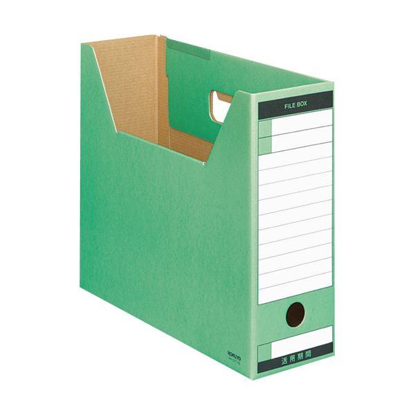 文具・オフィス用品関連 (まとめ)ファイルボックス-FS(Tタイプ) A4ヨコ 背幅102mm 緑 A4-LFT-G 1冊 【×20セット】