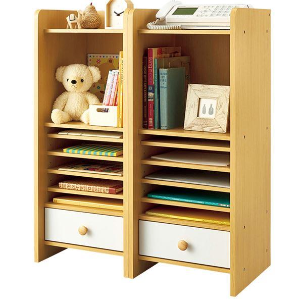 インテリア・寝具・収納 収納家具 関連 仕分けできる便利リビングラック 2個組