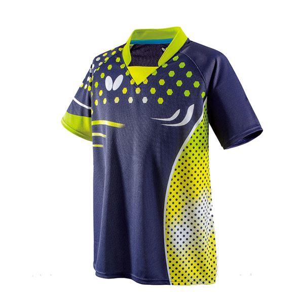 スポーツ用品・スポーツウェア 卓球用品 関連 卓球アパレル PATNARL SHIRT(パトナール・シャツ) 男女兼用 45460 ライム 3S