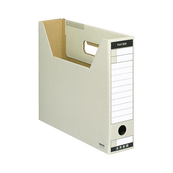 文具・オフィス用品関連 (まとめ)ファイルボックス-FS(Tタイプ) A4ヨコ 背幅75mm グレー A4-SFT-M 1冊 【×20セット】