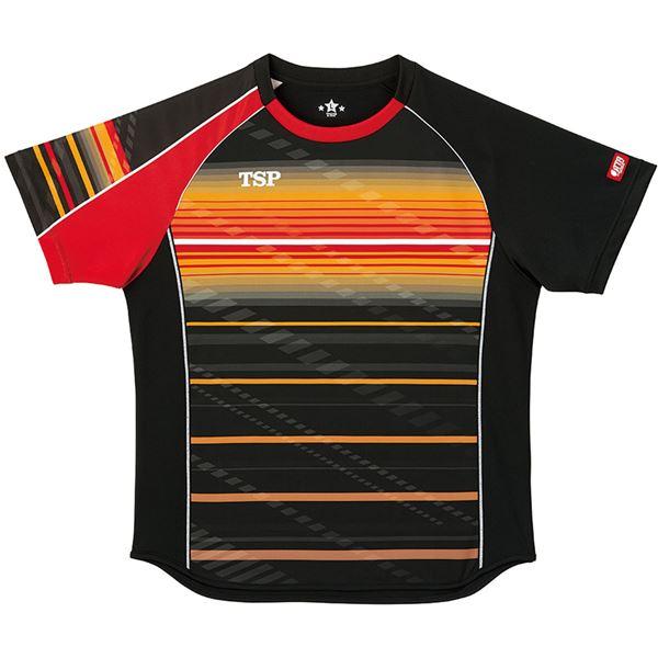 スポーツ用品・スポーツウェア 卓球用品 関連 卓球アパレル ゲームシャツ クラールシャツ 男女兼用 031428 ブラック L