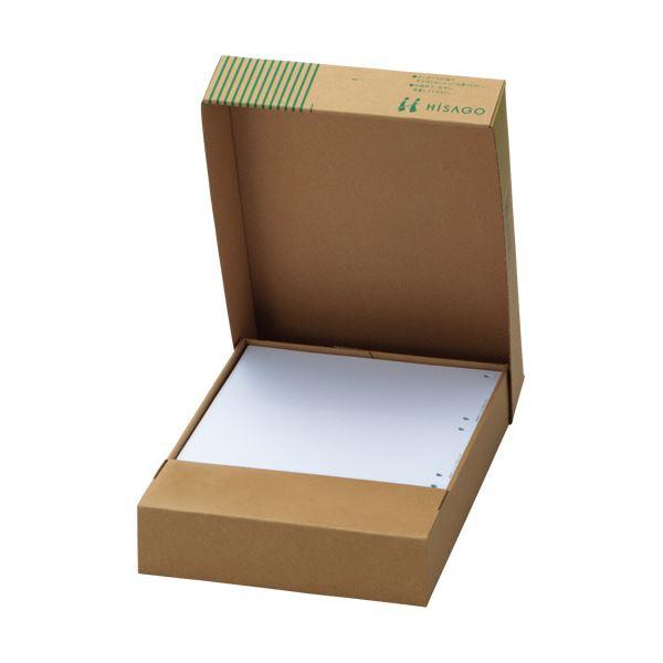 文房具・事務用品 紙製品・封筒 伝票 関連 (まとめ買い)マルチプリンタ帳票(FSC森林認証紙) A4白紙 ヨコ4面 1箱(500枚) 【×2セット】
