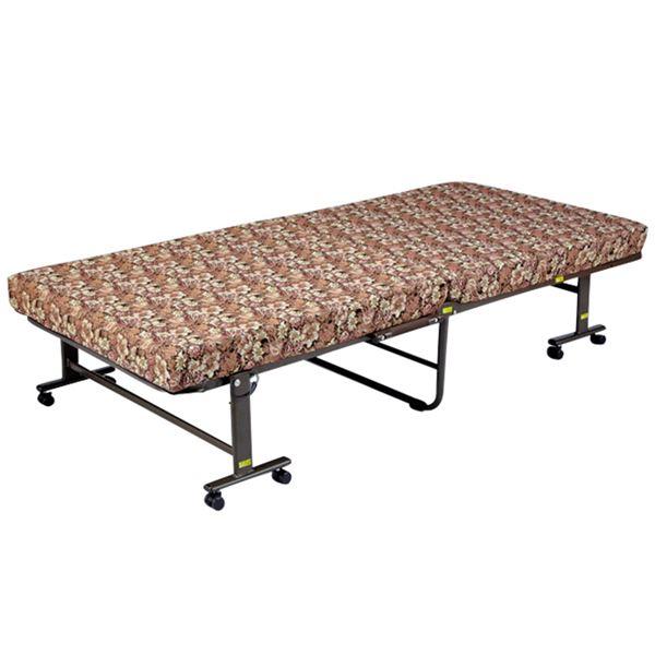 インテリア・寝具・収納 ベッド 折りたたみベッド 関連 寝返りしやすい高反発折りたたみベッド セミシングル