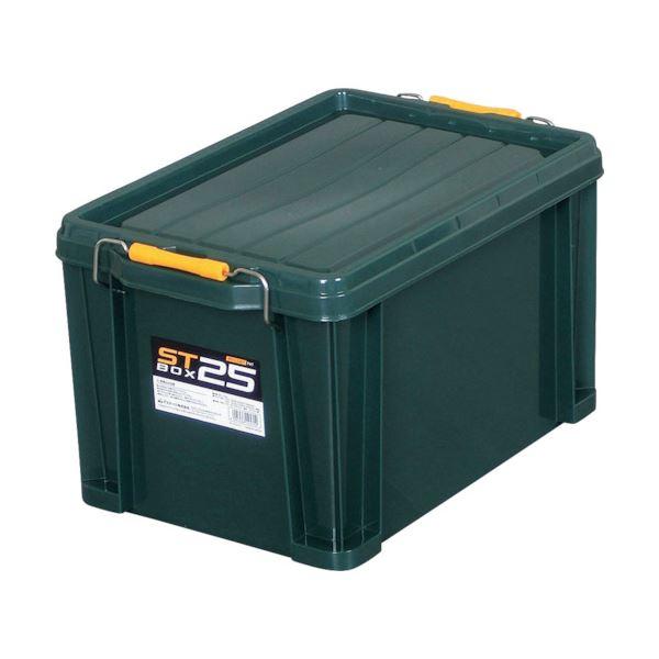 収納用品関連 (まとめ) アステージ STボックス DKグリーン#25 ST-25DGL 1個 【×5セット】