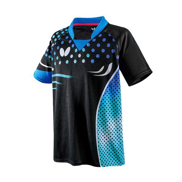スポーツ用品・スポーツウェア 卓球用品 関連 卓球アパレル PATNARL SHIRT(パトナール・シャツ) 男女兼用 45460 スカイ O