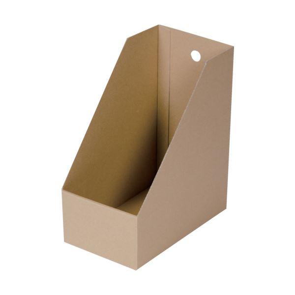 収納用品 マガジンボックス・ファイルボックス 関連 (まとめ)段ボール製A4縦型ファイルボックス 間口155 DB-BOXTW 1冊 【×20セット】