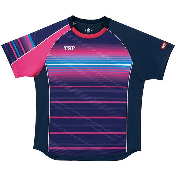 スポーツ用品・スポーツウェア 卓球用品 関連 卓球アパレル ゲームシャツ クラールシャツ 男女兼用 031428 ネイビー L