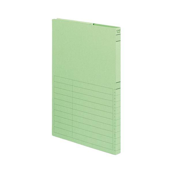 収納用品 マガジンボックス・ファイルボックス 関連 (まとめ)ケースファイル-FS A4タテ背幅17mm 緑 A4-950G 1セット(5冊) 【×5セット】
