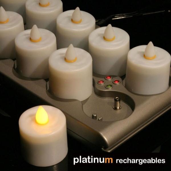 ロウソク 電気 おしゃれ 【インテリア照明】12ピース充電式キャンドル LEDキャンドル
