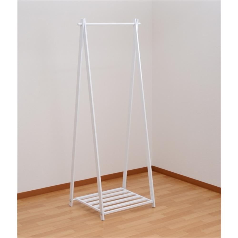 洋服掛け 小物収納 玄関収納 A型ハンガー 折り畳みタイプ ワイド 幅:63cm カラー:ホワイト