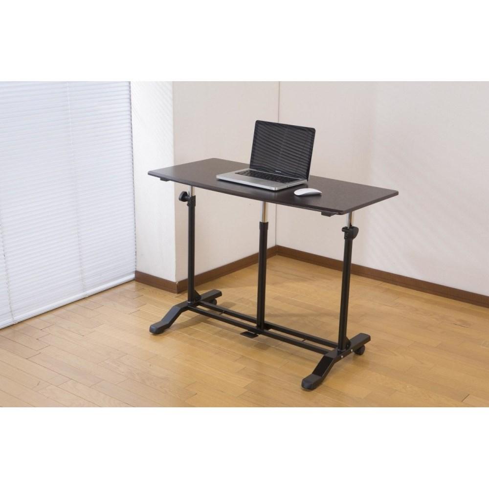 昇降テーブル デスク デスクワーク に 昇降式テーブル ダークブラウン