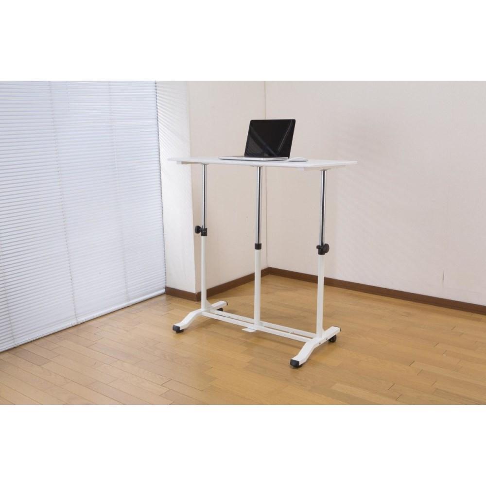 昇降式デスク PCデスク デスクワーク に 昇降式テーブル ホワイト