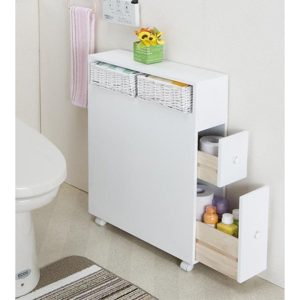 トイレ収納 収納棚 スリム 多機能トイレラック ホワイト