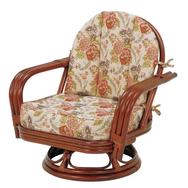 インテリア チェア 1人がけ アジアン リゾート を 感じさせる 素材 籐 製 の涼しげ な 椅子 RATTAN CHAIR 回転座椅子 高さ61cm