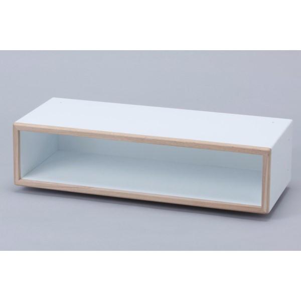 収納ボックス インテリア レイアウト自在 収納ボックス おしゃれ 部屋 最高級ディスプレイボックス 奥行き30cm 2L 標準タイプ ホワイト