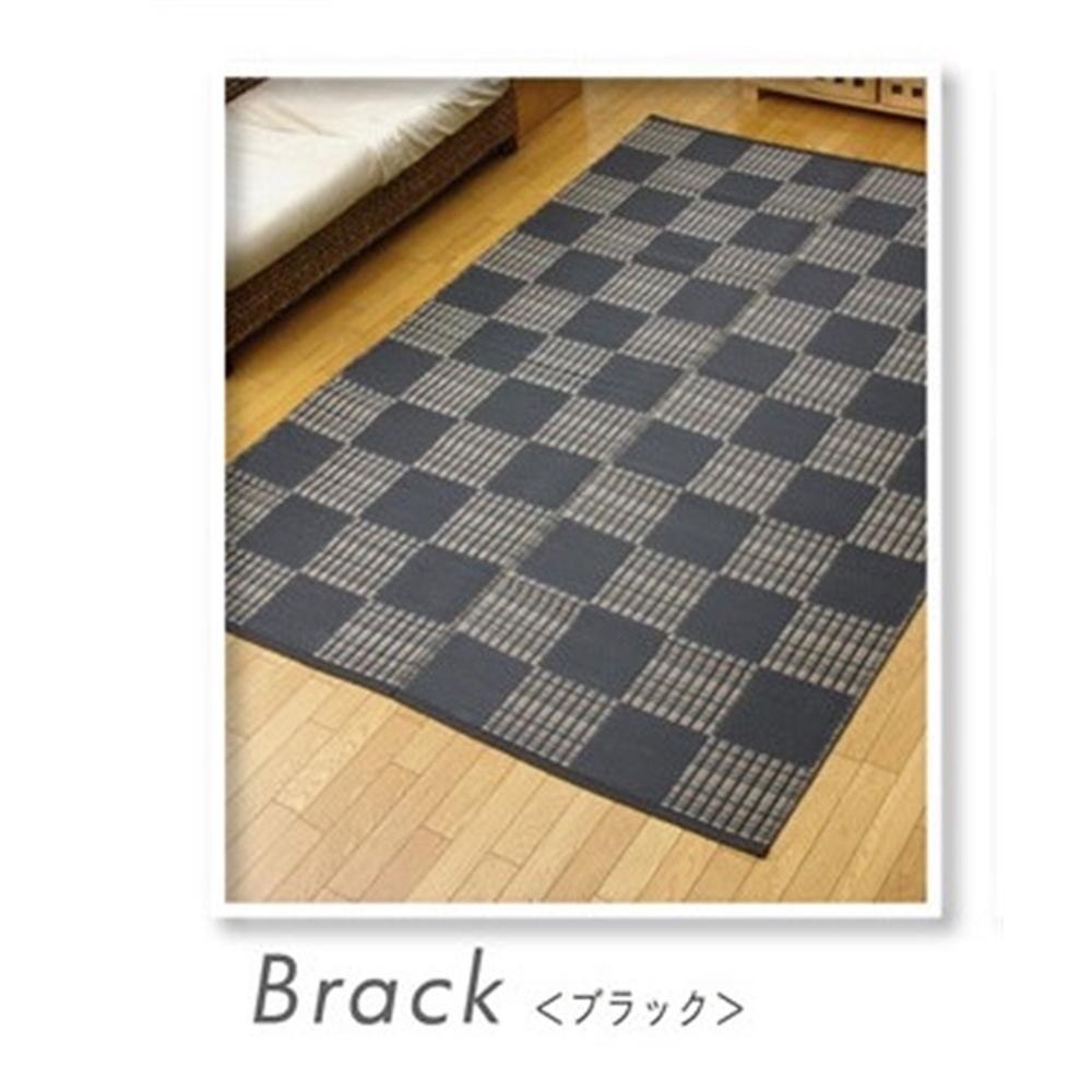 洗える マット 水洗い 洗濯OK PPカーペット カラー:ブラック サイズ:261×261cm