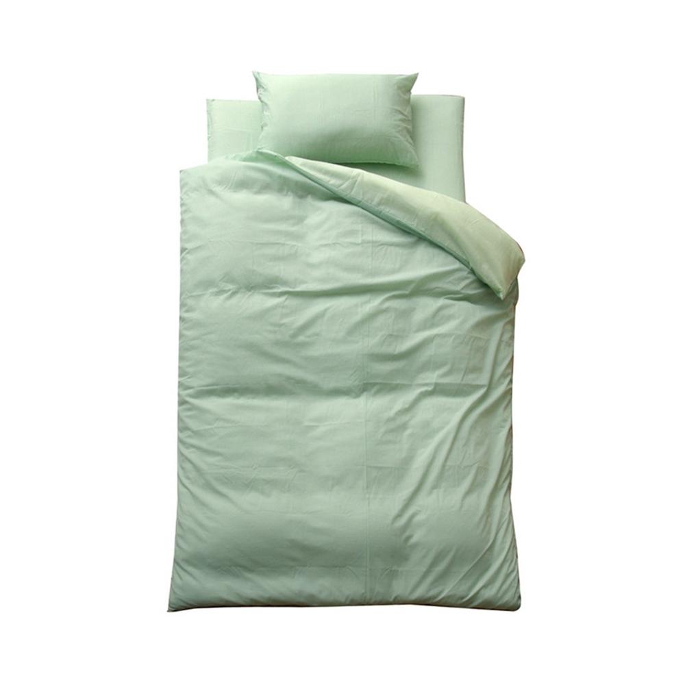 double 4点セット 洗える 洗濯可能 布団カバー ダブル4点セット カラー:グリーン/ライトグリーン