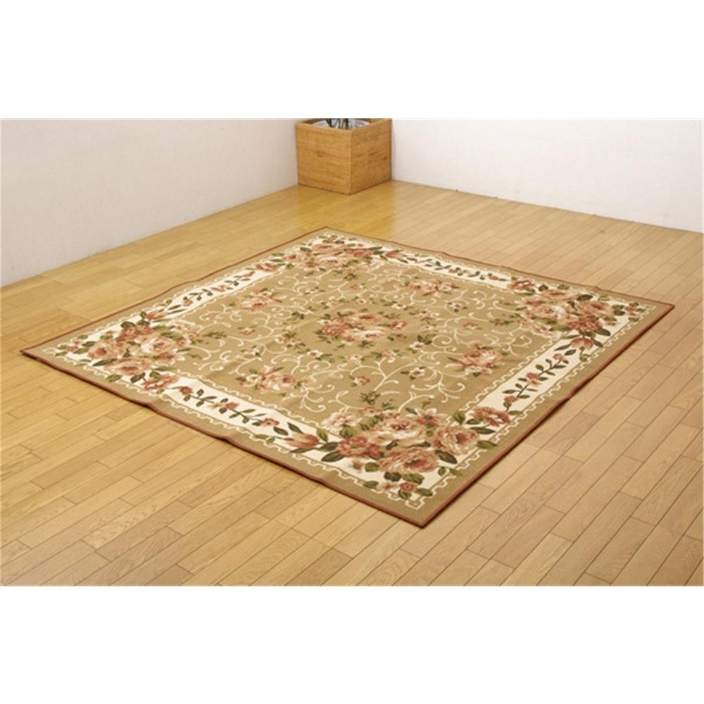 カーペット 絨毯 不織布 撥水カーペット カラー:ベージュ 江戸間10畳 サイズ:352x440cm
