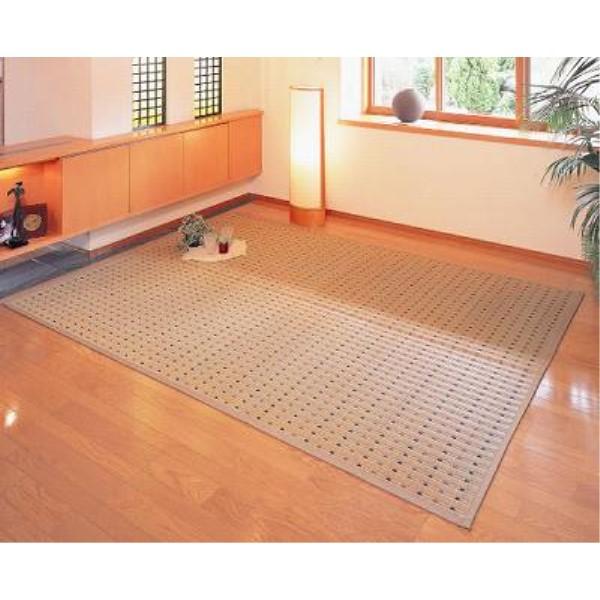 絨毯 ござ 素足に心地よいクッション性 和風 オシャレ い草花ござ『スウィート』 174×261cm