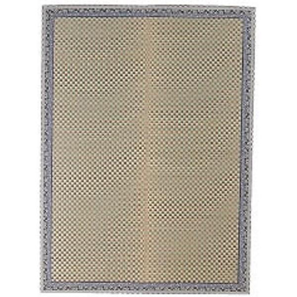 絨毯 ござ 素足に心地よいクッション性 人気商品 い草花ござ『かれん』 ブルー 174×174cm