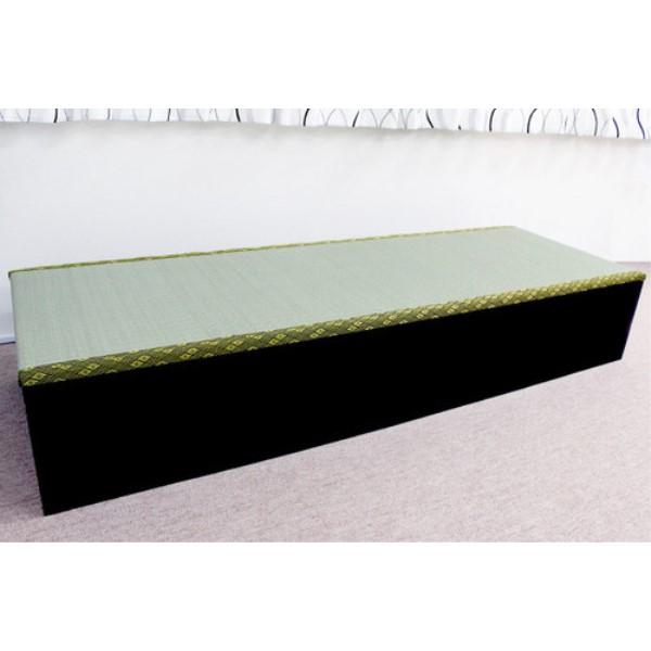 ユニット畳 収納 抜群の収納力でリビングもスッキリ! 可愛い 高床式ユニット畳(1.5畳タイプ)低ホルムアルデヒド・日本製! ダークブラウン
